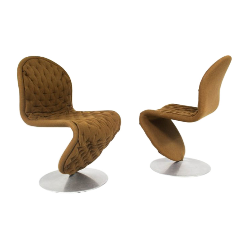 Vintage Danish Swivel Lounge Chair by VERNER PANTON for Fritz Hansen 1970s/set of 2
