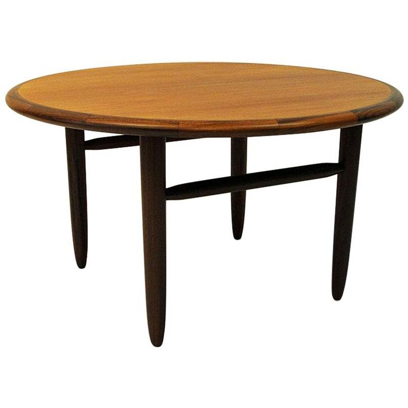 Round Vintage Teak coffee table by Aase Dreieri 1958 – Norway