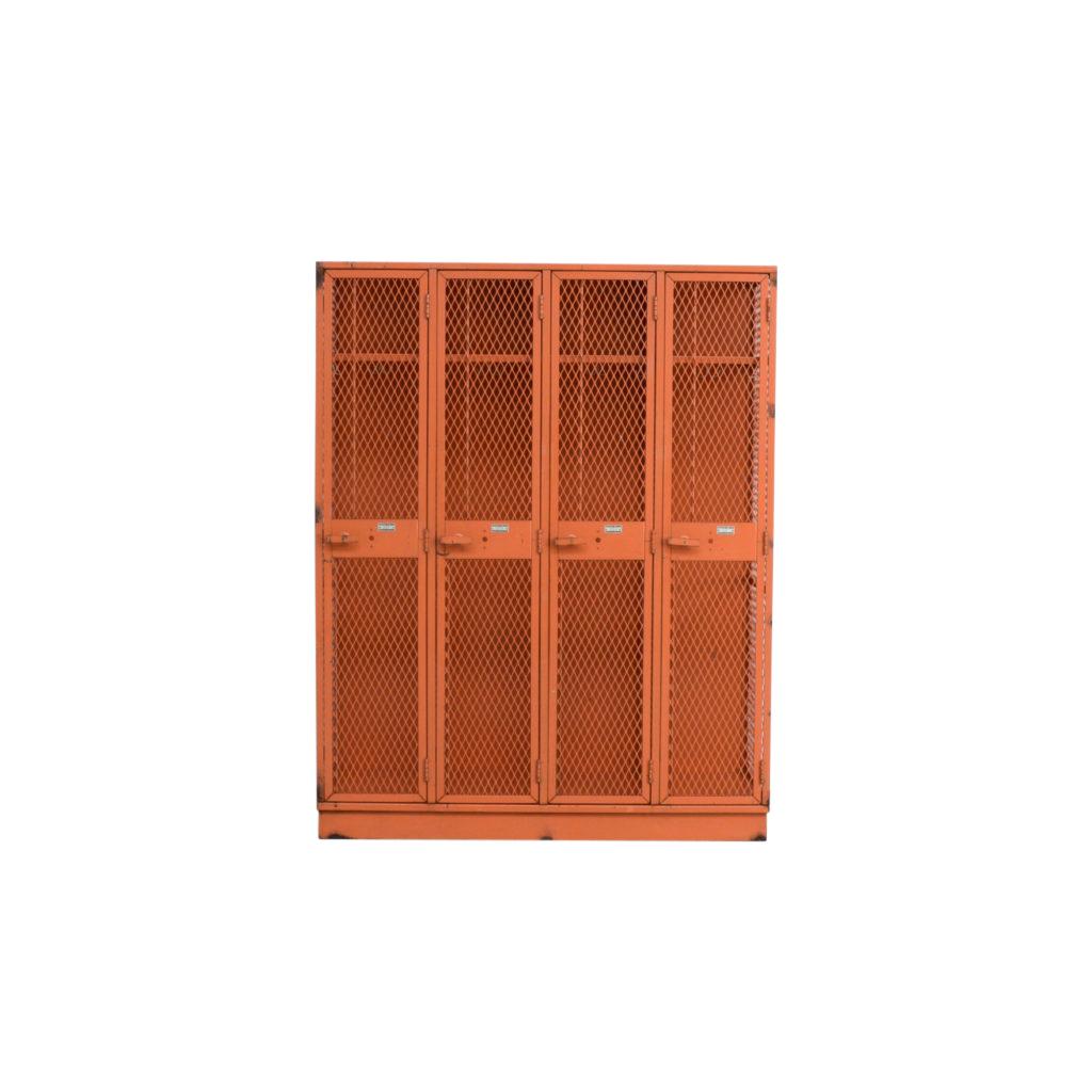 Vintage Industrial Metal Locker Cabinet