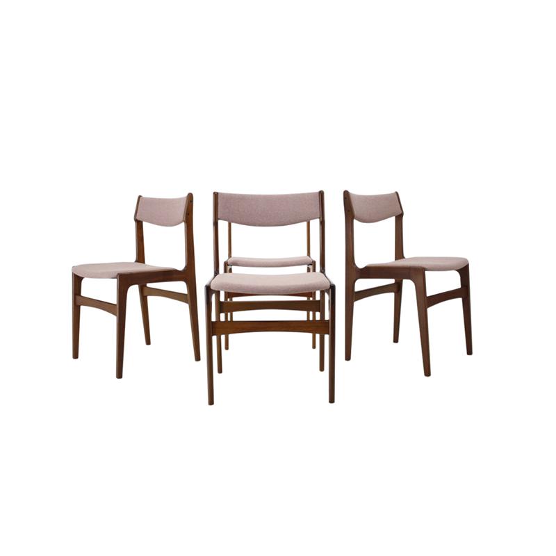 1960s Set Of 4 Teak Dining Chairs, Denmark