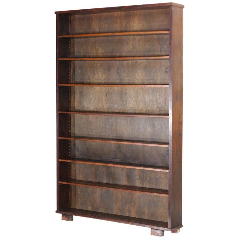 Vintage Large Oak Bookcase