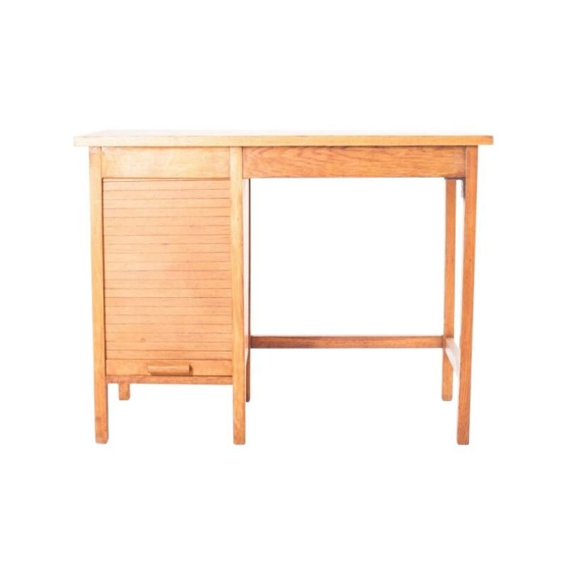 Children's desk with a roller blind Poland from the 1960s