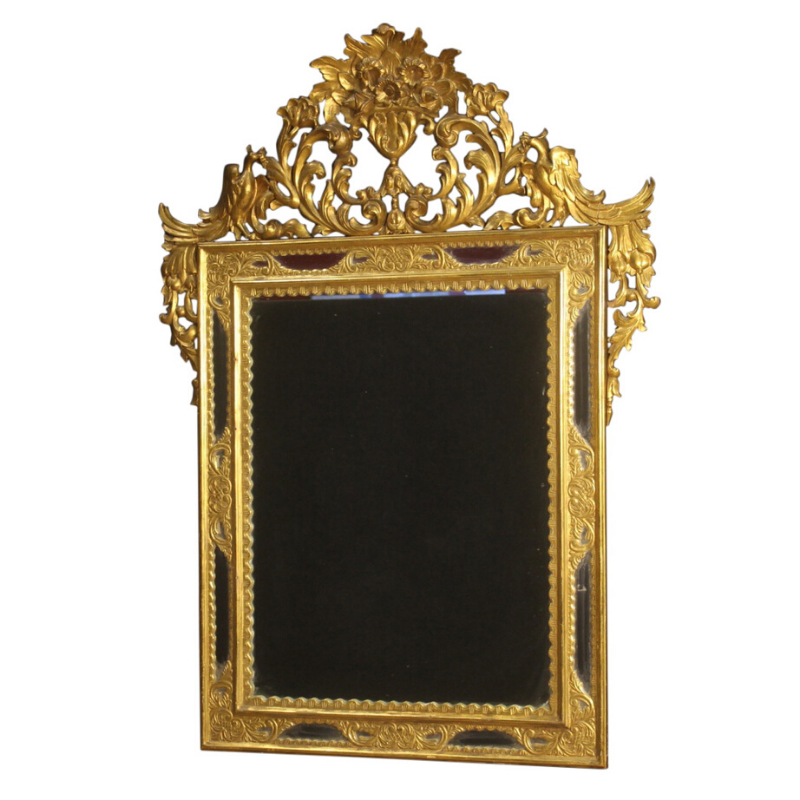 Spanish mirror in gilded wood