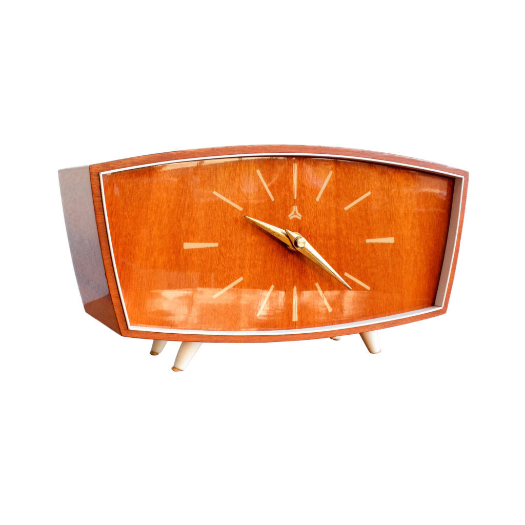 Vintage German Wooden Clock from Weimar, 1960s
