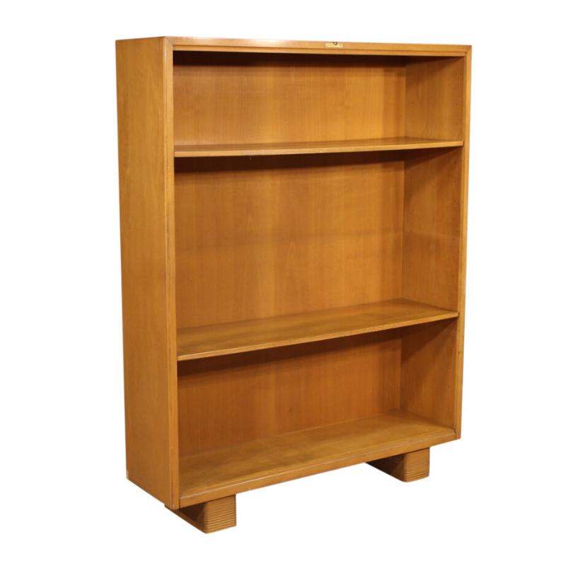 Italian Antonio Ferretti design bookcase in beech and fruitwood