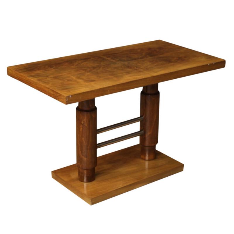 Italian coffee table in walnut and beech wood