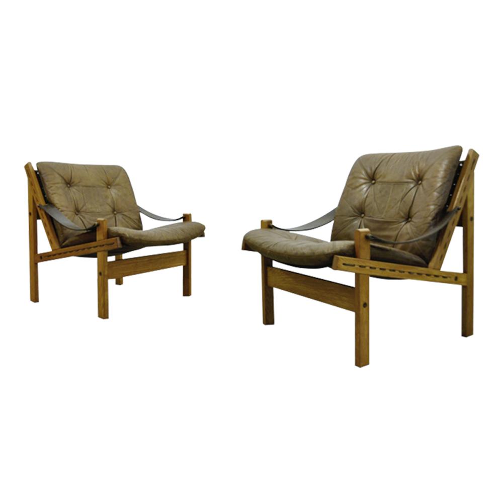 Hunter Safari Easy Chair by Torbjørn Afdal for Bruksbo, 1960s