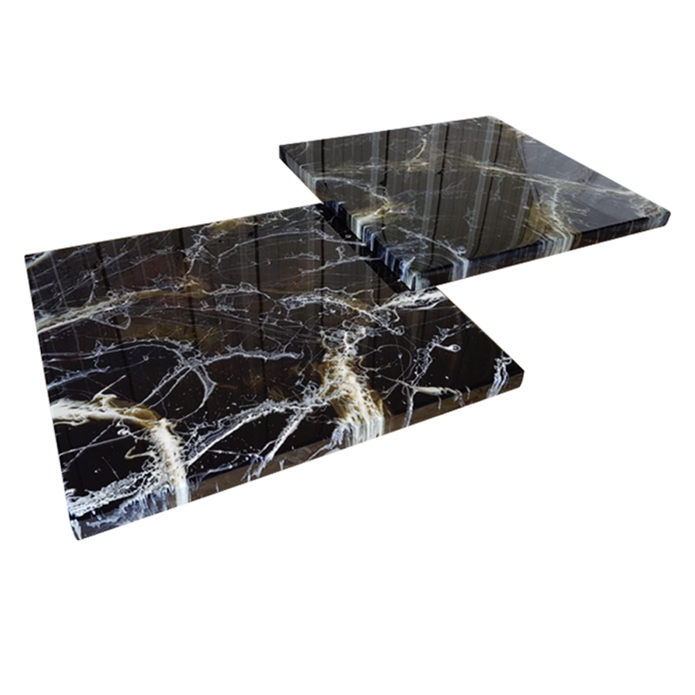 Pair Of Low Marble Coffee Tables