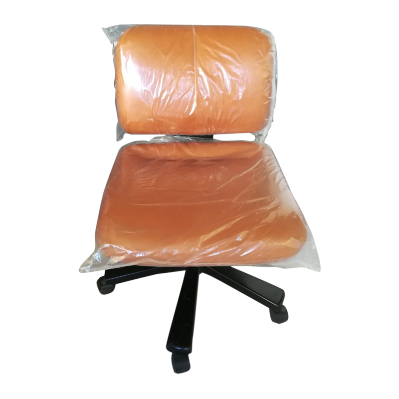 Olivetti synthesis line edys directional armchair on wheels in brown leather