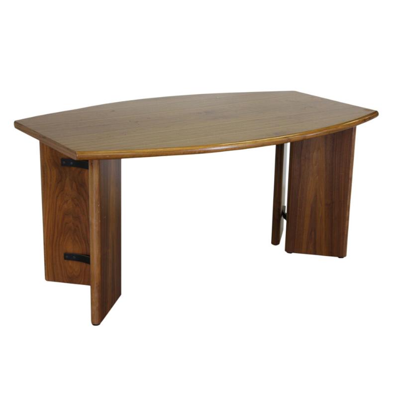Modern writing desk in teak wood