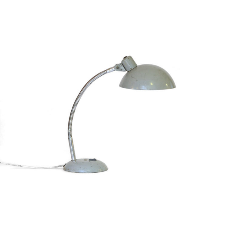 Mid century industrial desk lamp with great patina France 1950s