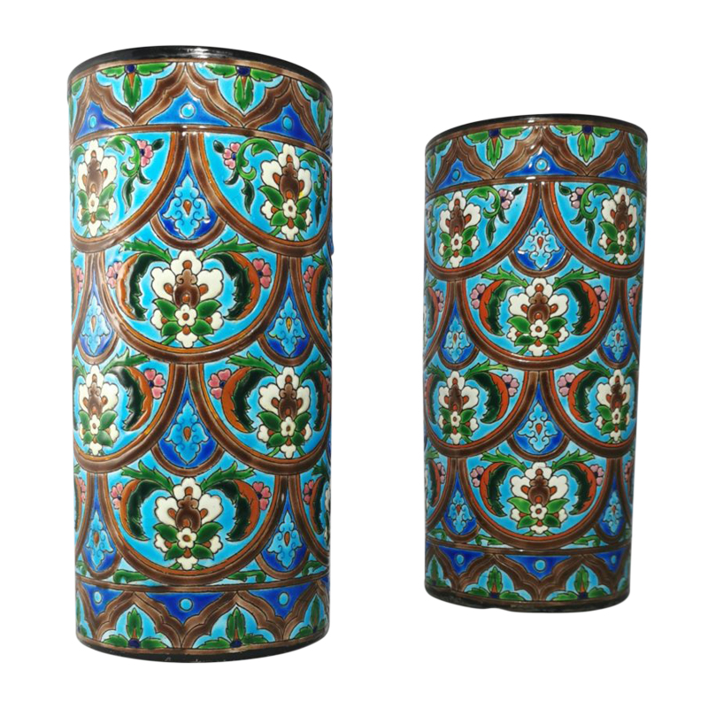 Pair of French cylindrical vases