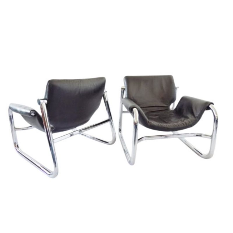 Brilliant Alpha Sling Lounge Chair By Maurice Burke For Pozza Cjindustries Chair Design For Home Cjindustriesco