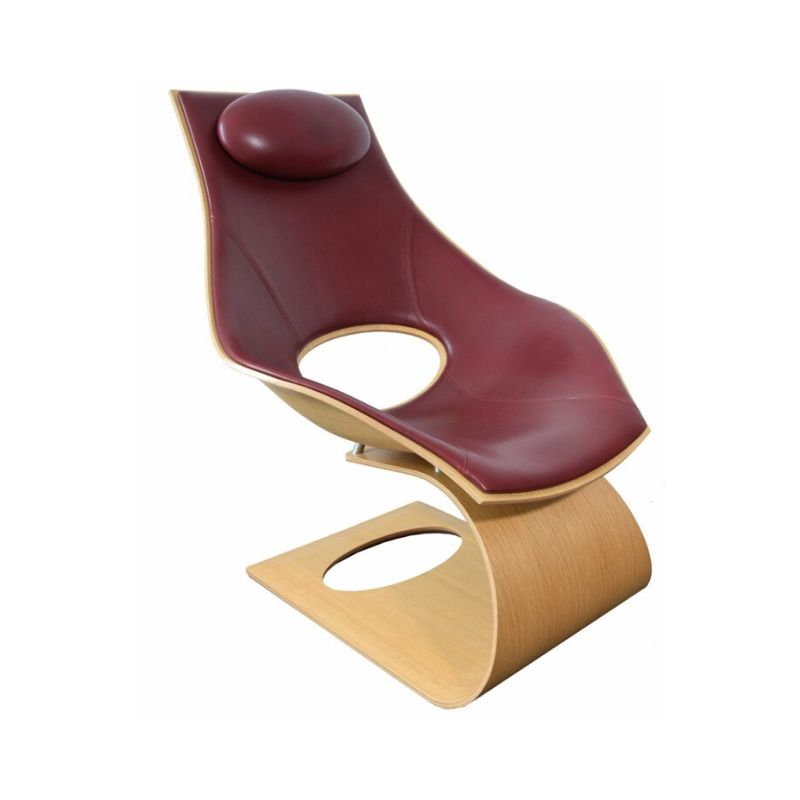 Tadao Ando Dream Chair TA 001 Oak Front Upholstered Bordeaux, Carl Hansen & Søn