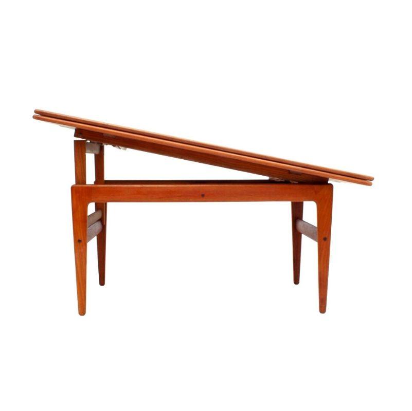 Metamorphic Danish Teak Coffee & Dining Table by Kai ...