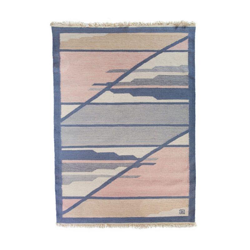 Scandinavian modern rug by Elsa Ekholm. 197 cm x 140 cm