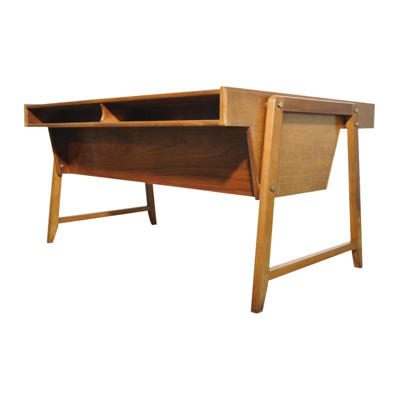 Vintage Wooden Desk by Clausen & Maerus for Eden Rotterdam, 1960s