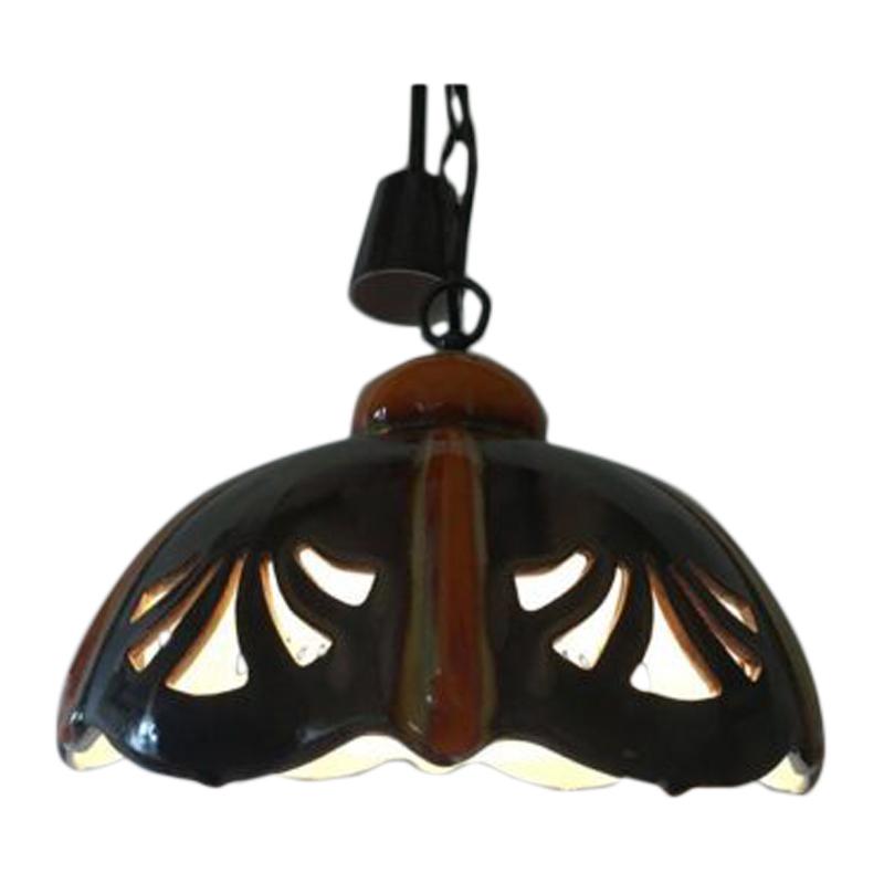 "Ceramic hanging lamp – ""Pan"" Goebel- Germany, 1970s."