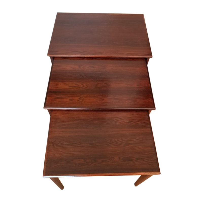 Nested coffee table in rosewood