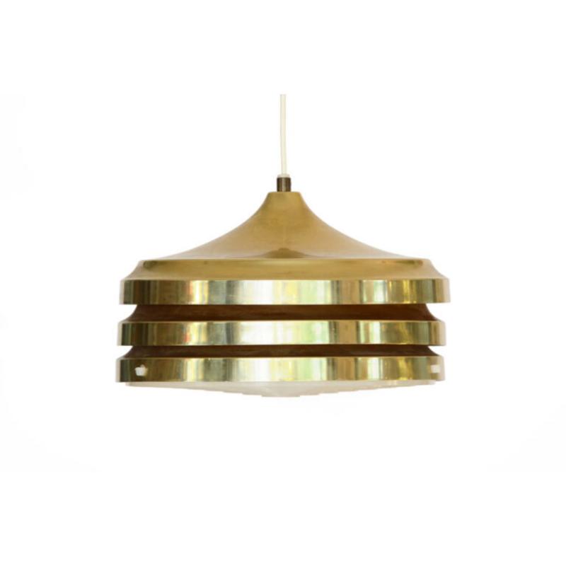Multi layered pendant light by Carl Thore (Sigurd Lindkvist) for Granhaga Metallindustri. Sweden 1970s