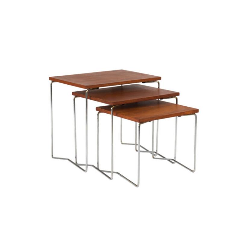Vintage Wooden Nesting Tables