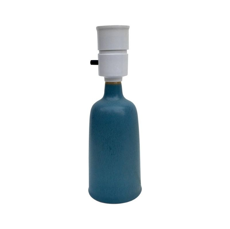 Midcentury Danish Blue Ceramic Table Lamp by Per Linnemann-Schmidt for Palshus