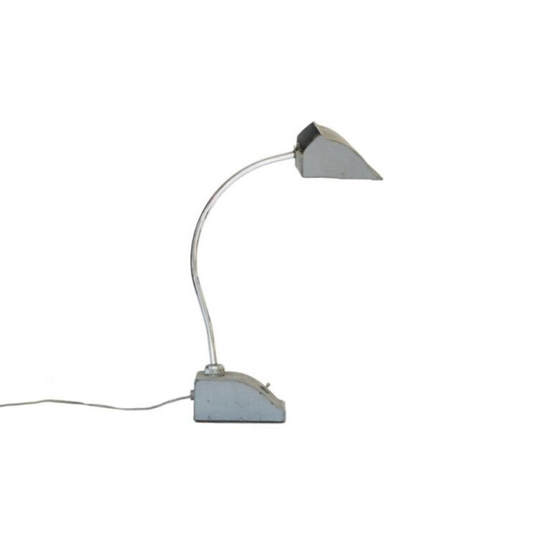 Vintage desk light_draft board lamp with fluorescent tube. France 1950s.