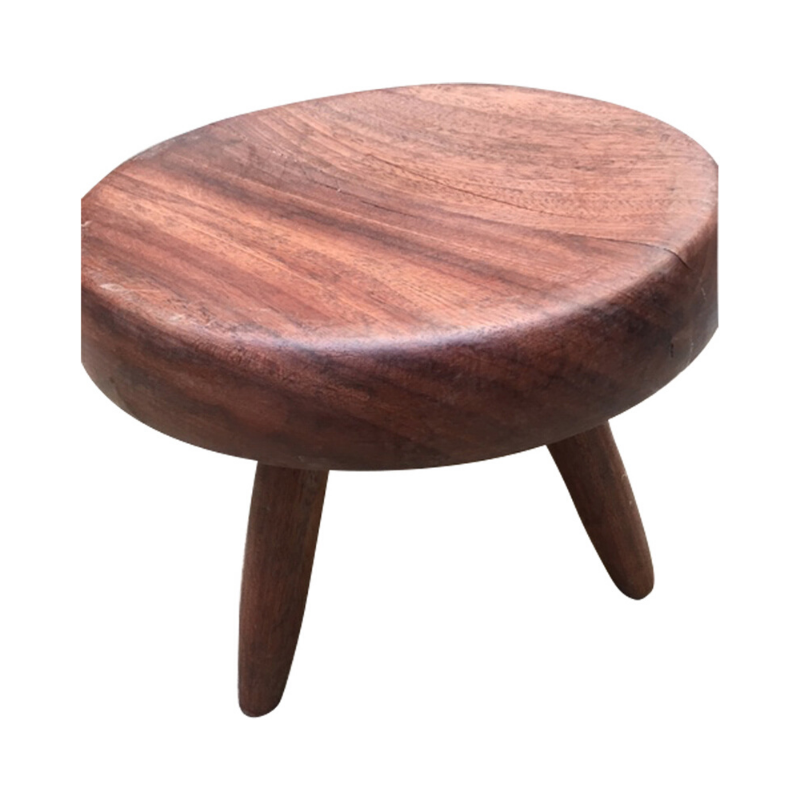 Charlotte Perriand Stool mahogany wood