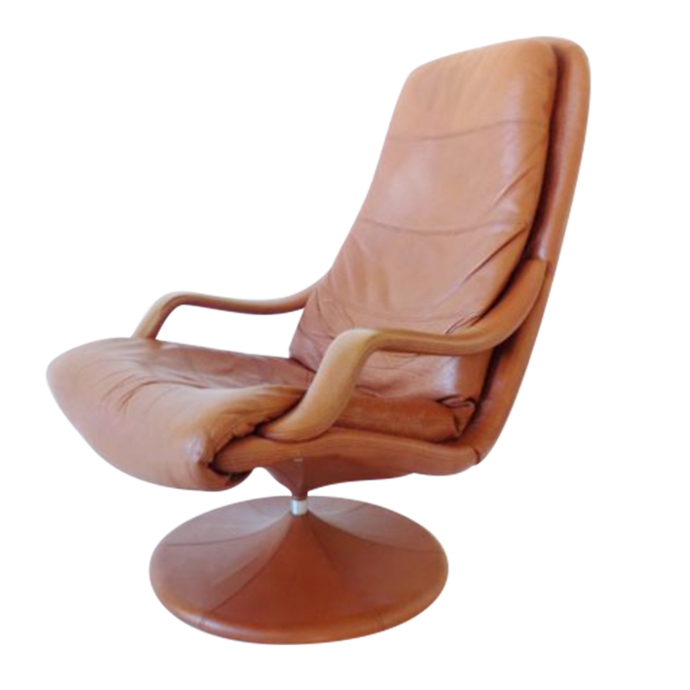 Danish Leather Loungechair by Georg Thams for Vejen