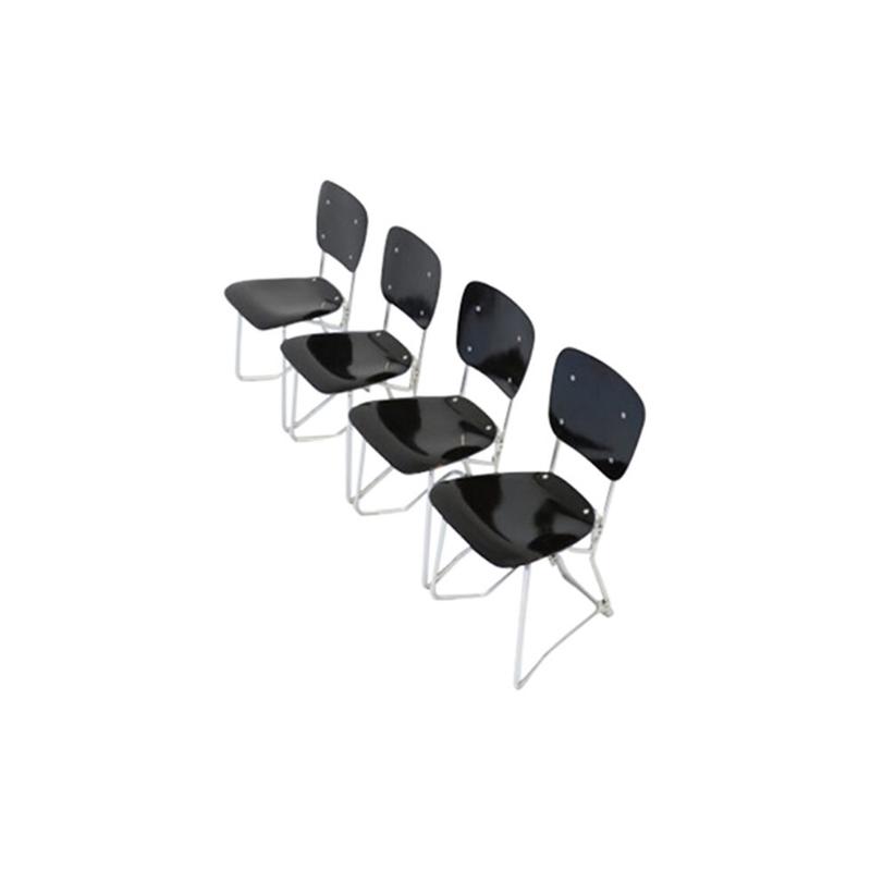 Set of 4 Alu-Flex Chairs by Armin Wirth