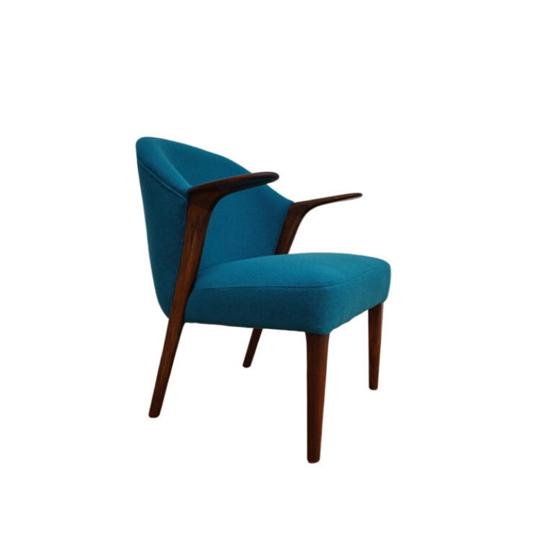 Danish armchair by Knud A. Risager, model 31, completely renovated – reupholstered