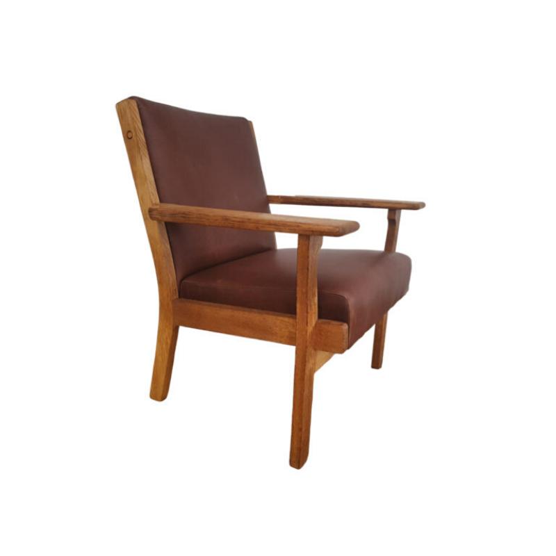 Danish design, H.J.Wegner armchair model GE 181, completely reupholstered