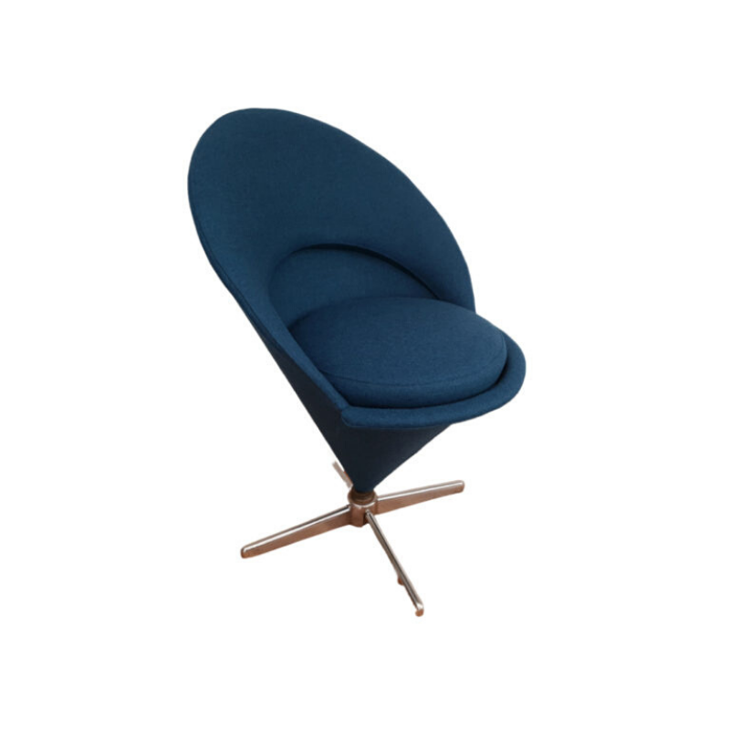 Danish design, Verner Panton, Cone chair completely renovated – reupholstered, 70s