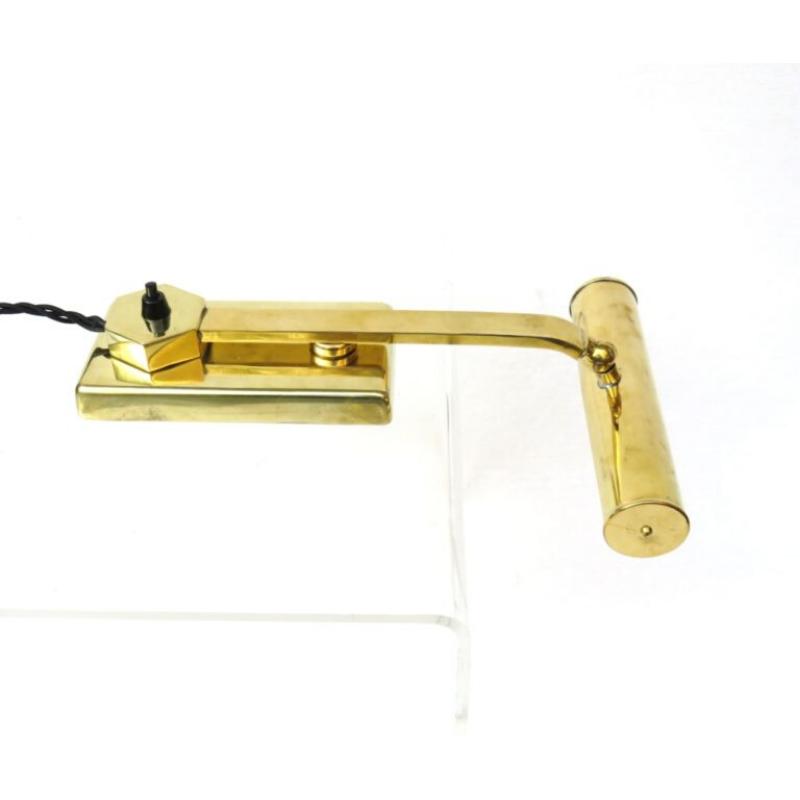 Extraordinary Piano lamp, Art Deco, brass polished