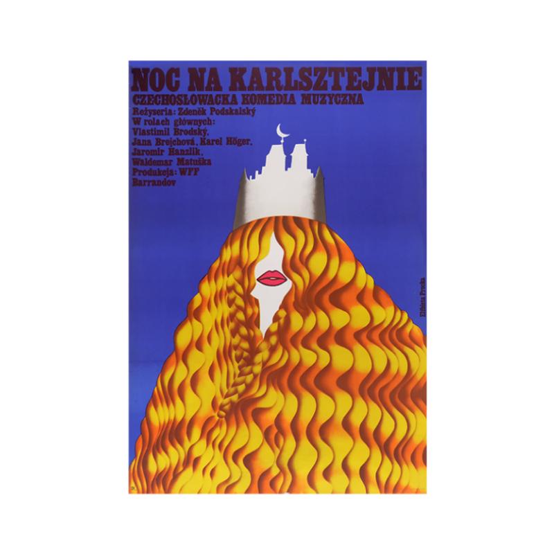 Film Poster 'Night at Karlštejn'   Poland   1974