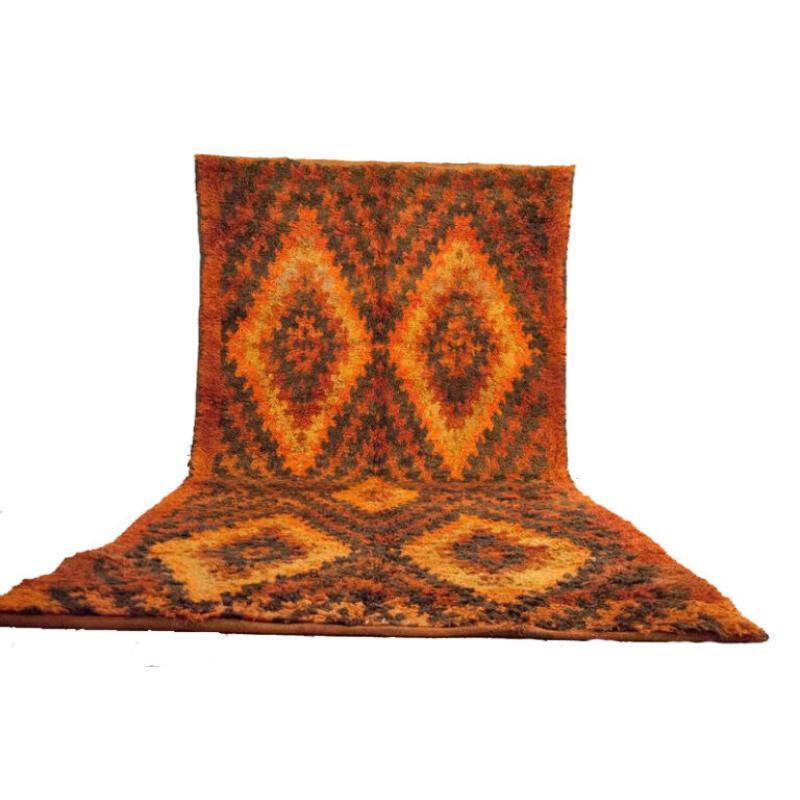 Moroccan rug 6'x12′ Vintage Beni Mguild rug, The Genuine Moroccan rug.