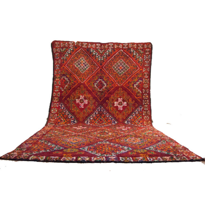 Moroccan rug 6'x12′ vintage beni mguild rug, the genuine moroccan rug.-3