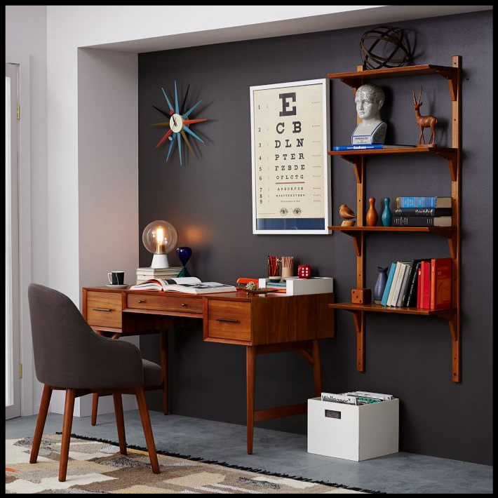 How To Create The Picture Perfect Mid Century Modern Home Office Design Addict