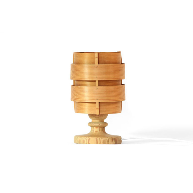 Pine veneer table lamp B 148 by Hans-Agne Jakobsson for Ellysett AB, Markaryd. Sweden 1960s-2