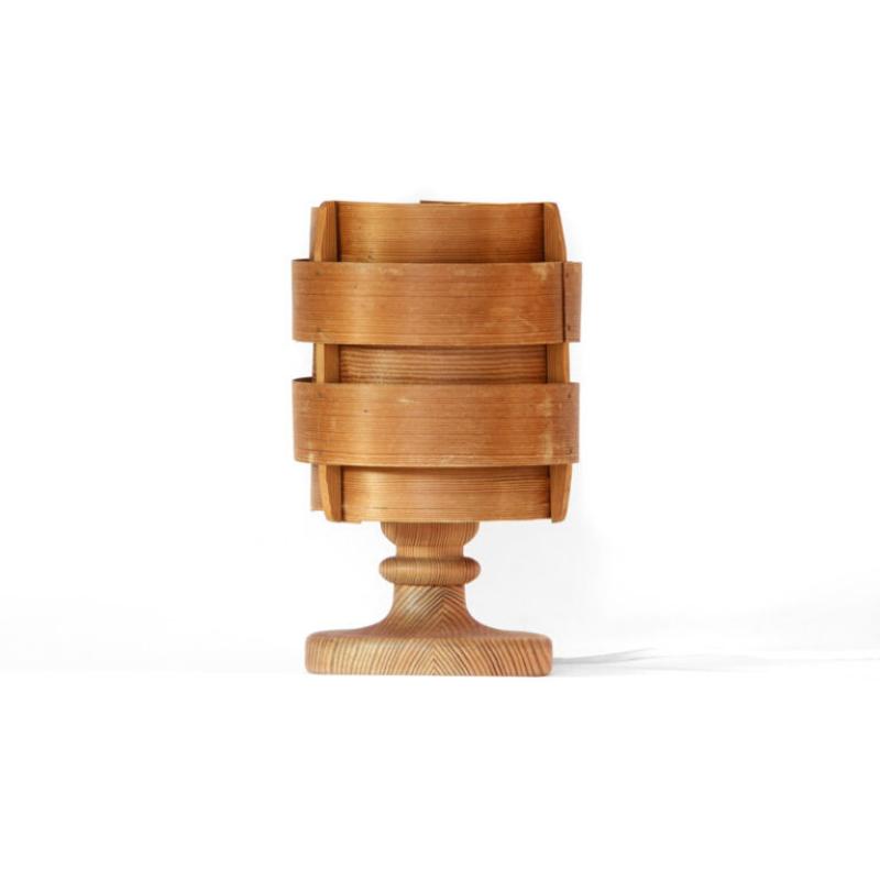 Pine veneer table lamp B 148 by Hans-Agne Jakobsson for Ellysett AB, Markaryd. Sweden 1960s