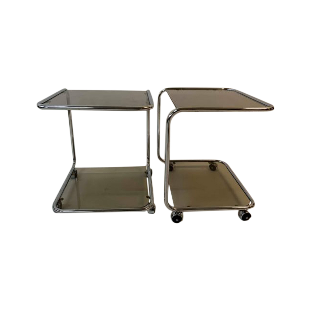 Pair of bedside tables, Bauhaus- Germany, 1960s.