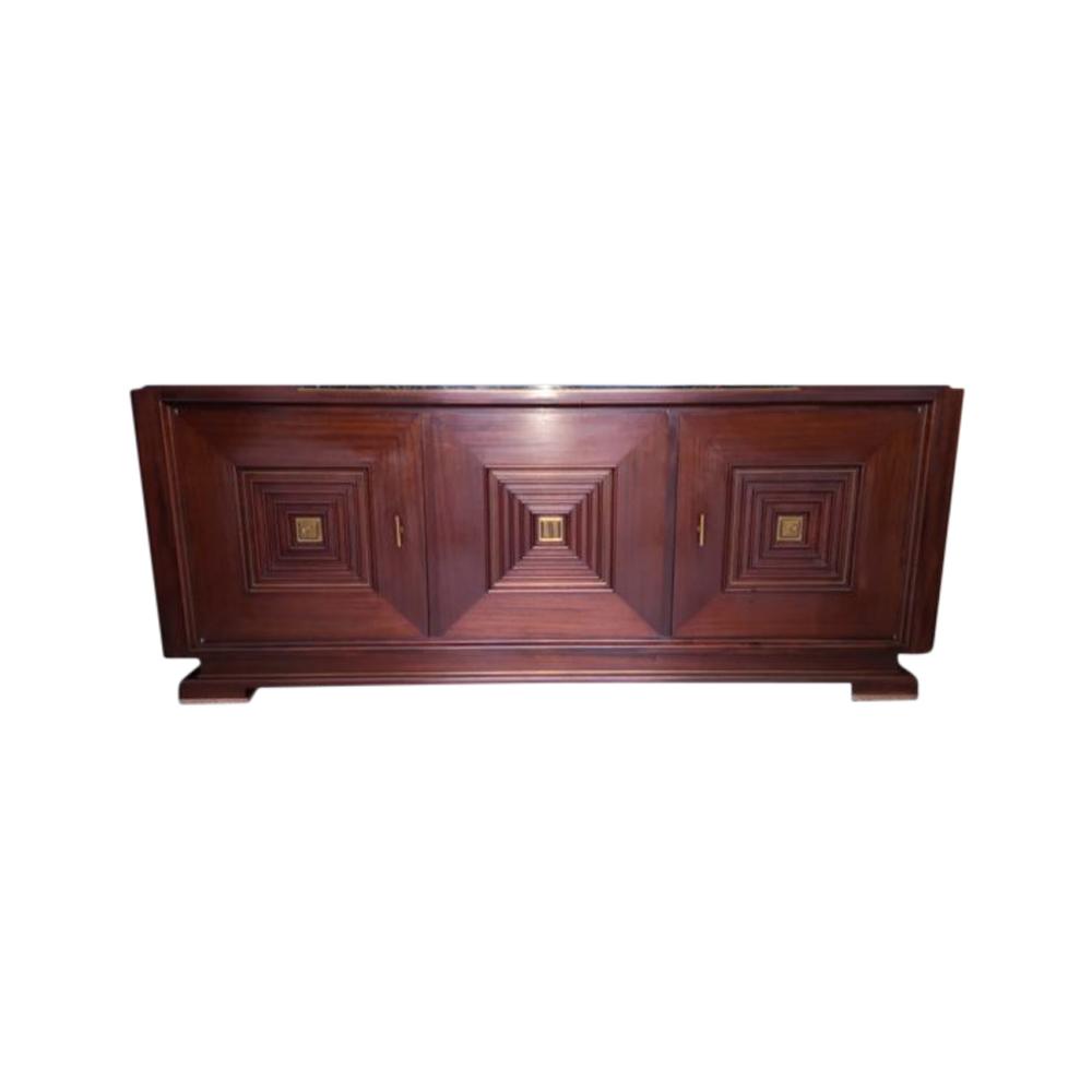exceptional 3 doors mahogany bronze marble portor art deco 1930 1940