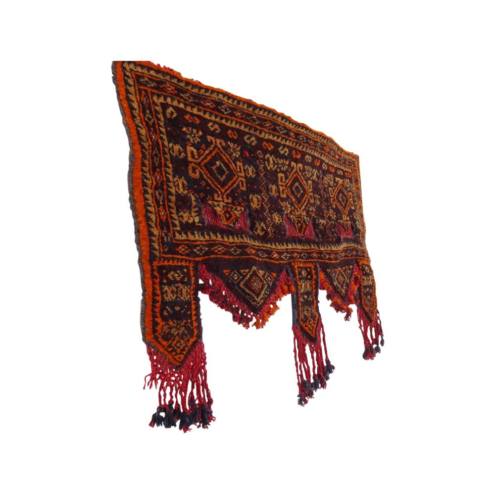 Turkmen rug, kapanuk, door topper, wall hanging