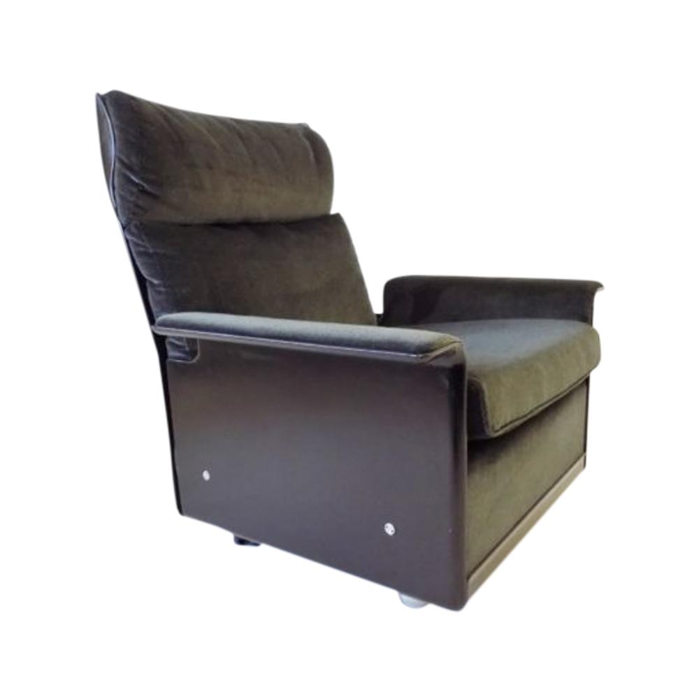 Vitsoe 620 grey/black Lounge Chair by Dieter Rams