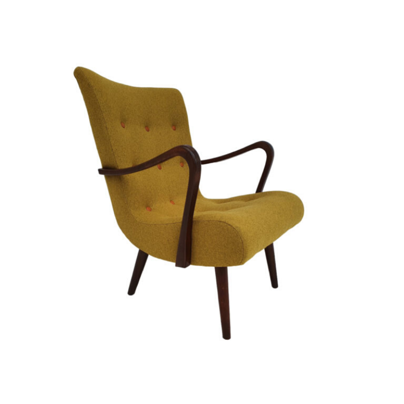 Danish armchair, 50s, completely reupholstered