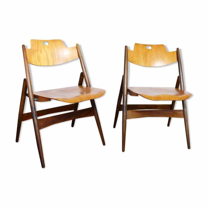 Paire chaise Eiermann