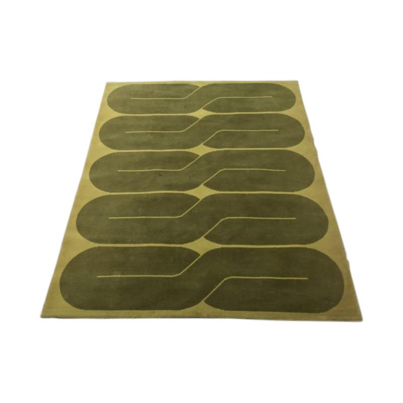198 X 173 Cm Modernist Green Rug