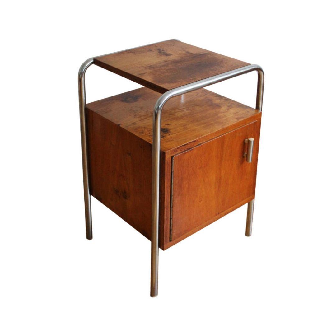 1930's Modernist Bedside Table by Mucke Melder