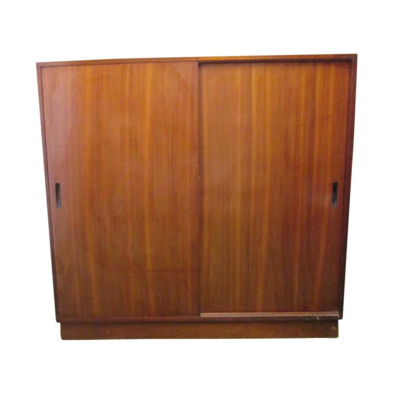 Mahogany filing cabinet with lockers, 1970s