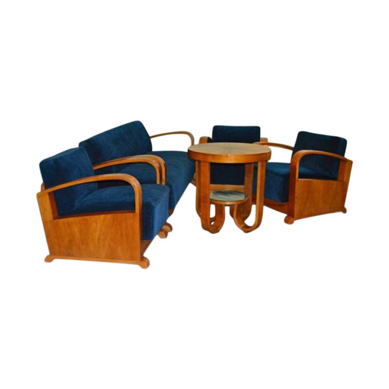 Art Deco Living Room Set, 1930s